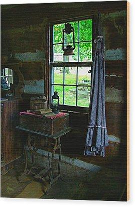 Grandma's Things Wood Print by Julie Dant