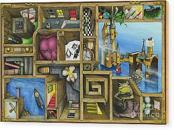Grandma's Treasure Wood Print by Colin Thompson