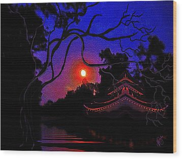 Wood Print featuring the painting Grandmother Embracing Faith by Yolanda Raker