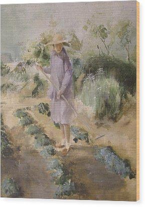 Grandmother Margaret's Garden Wood Print by Terri Ana Stokes