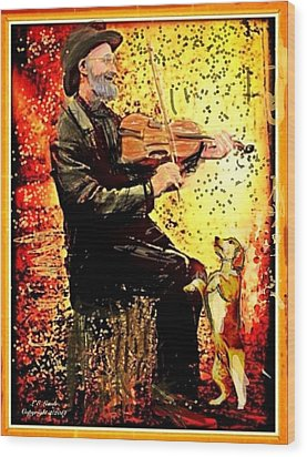 The Music Lover. Wood Print by Larry Lamb