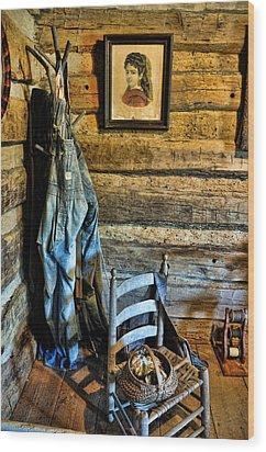 Grandpa's Closet Wood Print by Jan Amiss Photography