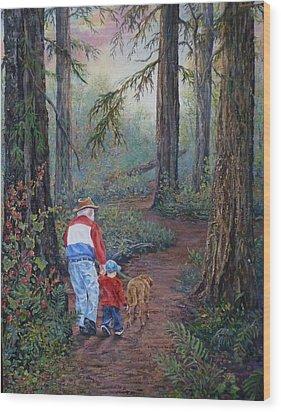 Grandpa's Pathway  Wood Print by Gracia  Molloy