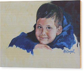 Grandson Wood Print by Michael McDougall