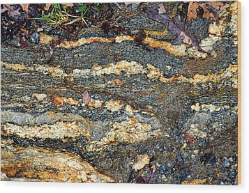 Wood Print featuring the photograph Granite Trail by Allen Carroll
