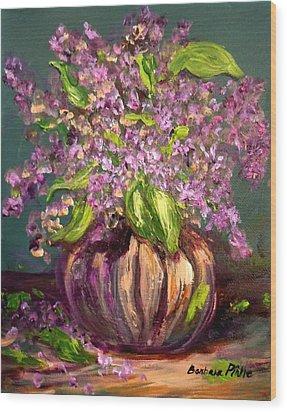 Granny Mabry's Lilacs Wood Print by Barbara Pirkle