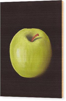 Granny Smith Apple Wood Print by Anastasiya Malakhova