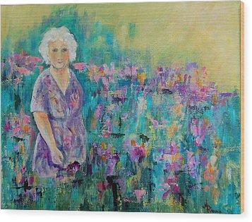 Granny's Garden Wood Print
