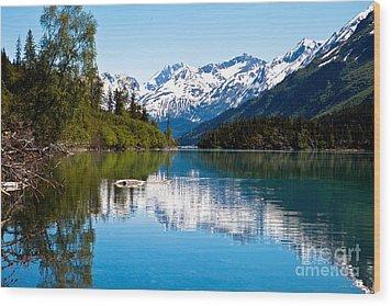 Grant Lake Wood Print by Chris Heitstuman