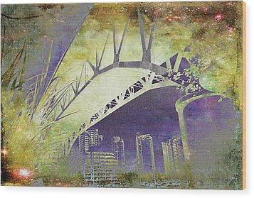 Granville Street Bridge - Inside Out Wood Print