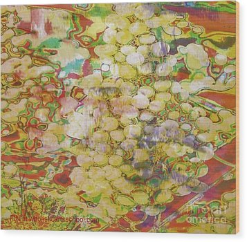 Grape Abundance Wood Print by PainterArtist FIN