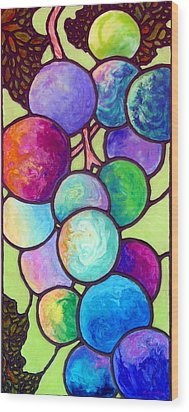 Wood Print featuring the painting Grape De Chine by Sandi Whetzel