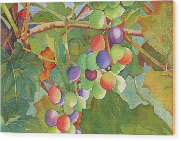 Grape Fusion Wood Print