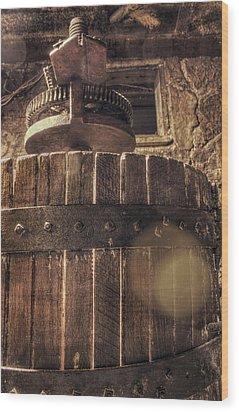 Grape Press At Wiederkehr Wood Print