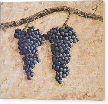 Grape Vine Wood Print by Darice Machel McGuire