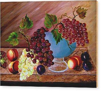 Grapefully Your's Wood Print by Fram Cama