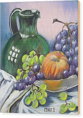 Grapes Galore Wood Print by Marilyn  McNish