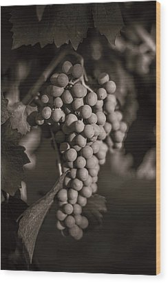 Grapes In Grey 2 Wood Print by Clint Brewer