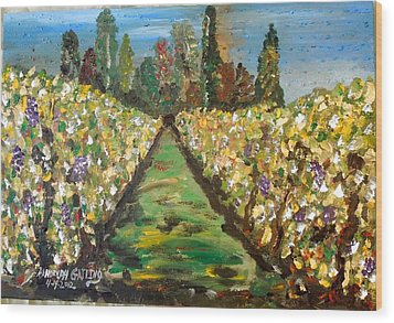Grapes Of Tuscany Wood Print