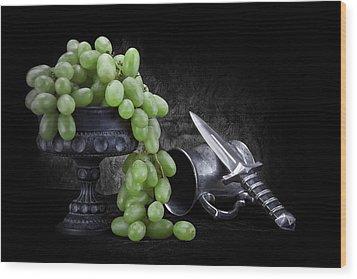 Grapes Of Wrath Still Life Wood Print by Tom Mc Nemar