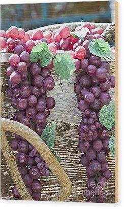 Grapes Wood Print by Tim Hightower