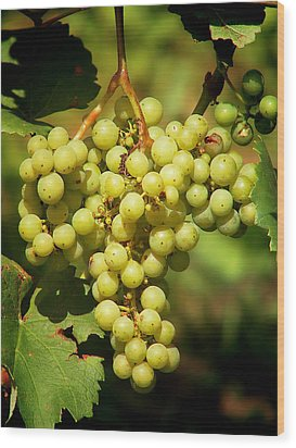 Grapes - Yummy And Healthy Wood Print by Christine Till