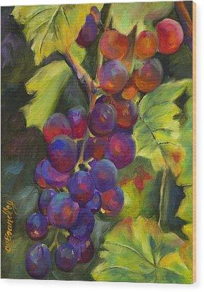 Grapevine Wood Print by Chris Brandley