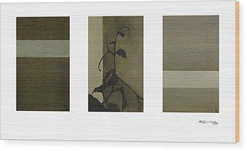 Grapevine Line Wood Print by Xoanxo Cespon