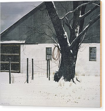 Wood Print featuring the painting Grapevine by Tom Wooldridge