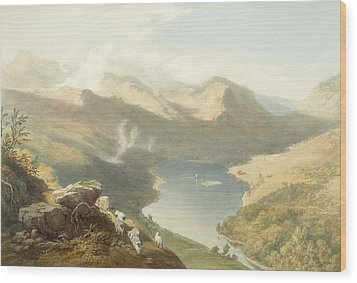 Grasmere From Langdale Fell, From The Wood Print by James Baker Pyne