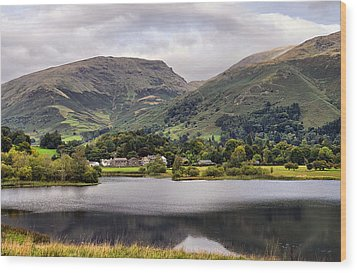 Grasmere Lake Wood Print