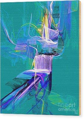 Grass Dancer Wood Print by Jeanne Liander