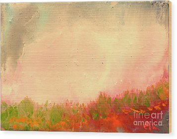 Grass Fire Wood Print