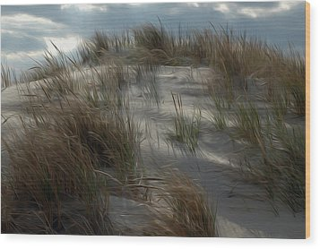 Wood Print featuring the digital art Grassy Dunes by Kelvin Booker