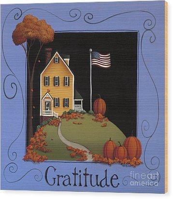 Gratitude Wood Print by Catherine Holman