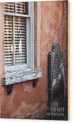 Grave By The Window Wood Print by John Rizzuto