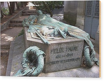Grave Of Felix Faure  Wood Print