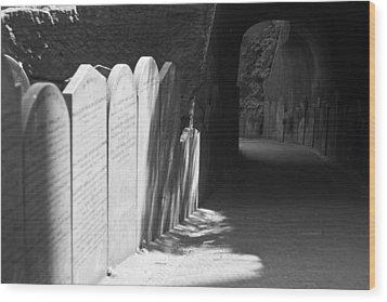 Grave Row Wood Print by Georgia Fowler