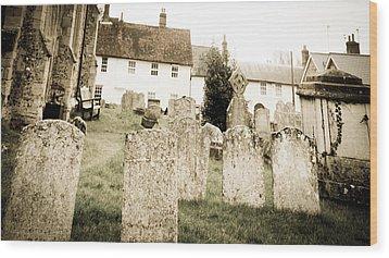 Grave Yard Wood Print by Tom Gowanlock