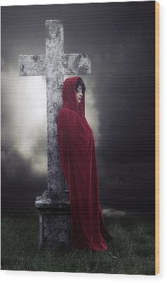 Graveyard Wood Print by Joana Kruse