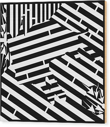 Gravity Induced Cat Nap Maze Wood Print by Yonatan Frimer Maze Artist