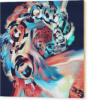 Gravity Well Wood Print by Anastasiya Malakhova