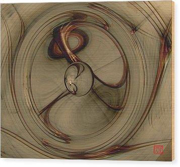 Gravity Wells Wood Print by David Jenkins