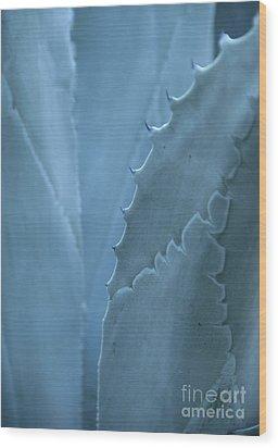 Gray-blue Patterns Wood Print