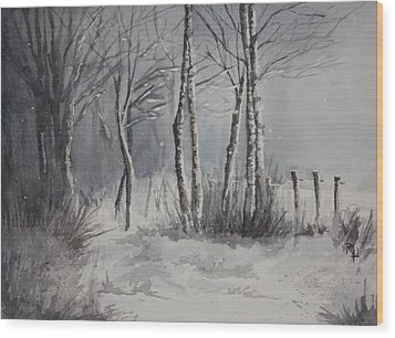 Gray Forest Wood Print