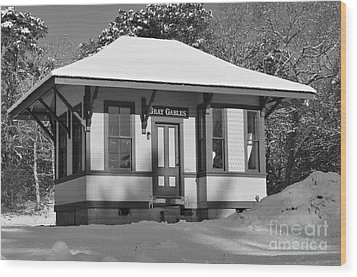 Gray Gables Train Station Wood Print by Catherine Reusch  Daley