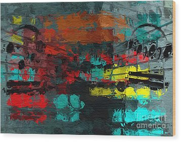 Wood Print featuring the digital art Gray Green Intermezzo by Lon Chaffin