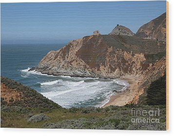 Gray Whale Cove State Beach Montara California 5d22618 Wood Print by Wingsdomain Art and Photography