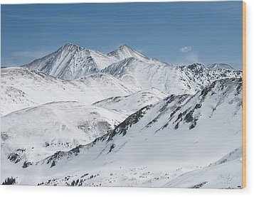 Grays And Torreys From Loveland Ski Area Wood Print by Aaron Spong