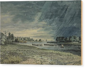 Grays Ferry Circa 1858 Wood Print by Aged Pixel
